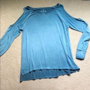 AE cold shoulder shirt